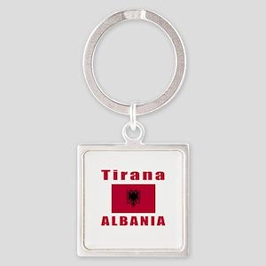 Tirana Albania Designs Square Keychain