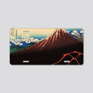 Rainstorm on Mount Fuji by  Aluminum License Plate