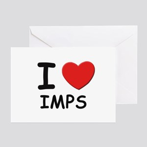 I love imps Greeting Cards (Pk of 10)