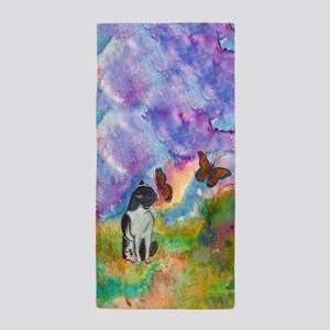 Cat And Monarch Beach Towel