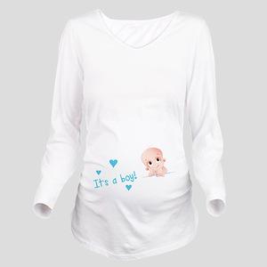 Its a boy Long Sleeve Maternity T-Shirt