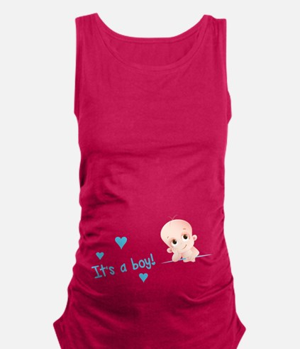 Its a boy Maternity Tank Top