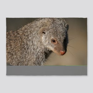 Mongoose001 5'x7'Area Rug
