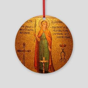 St Agatha Round Ornament