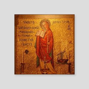 "Saint Anastasia Square Sticker 3"" x 3"""