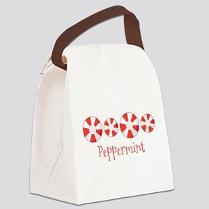 Peppermint Canvas Lunch Bag