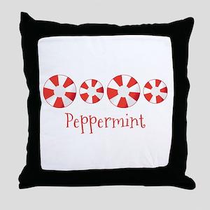 Peppermint Throw Pillow