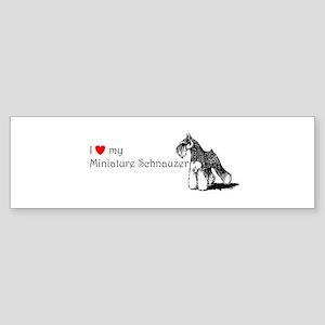lovemyminischnauzer Bumper Sticker