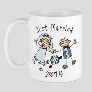 Stick Just Married 2014 Mug
