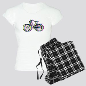 Colorful bicycle silhouette, design for t-shirts P