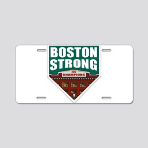 Boston Strong Home Plate Aluminum License Plate