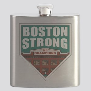 Boston Strong Home Plate Flask