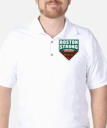 Boston Strong Home Plate Golf Shirt
