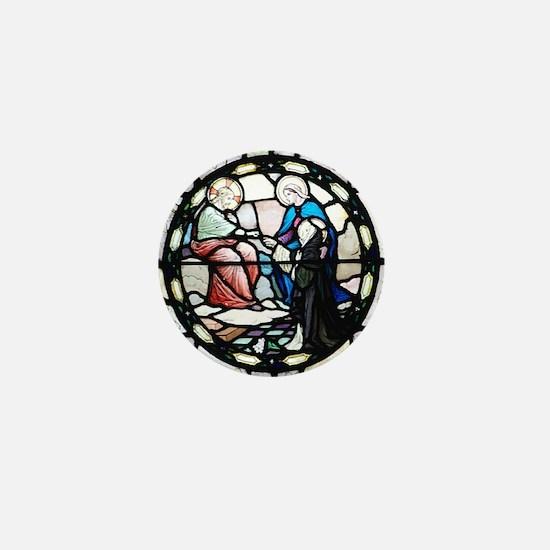 St Catherine of Sienna Mini Button