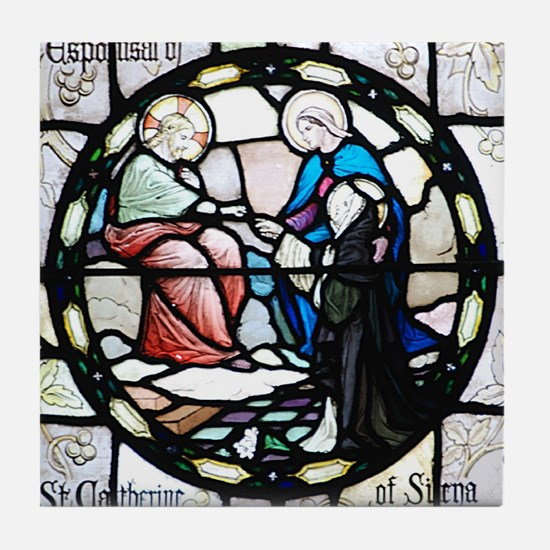 St Catherine of Sienna Tile Coaster