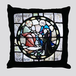 St Catherine of Sienna Throw Pillow