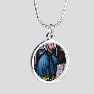 St Ignatius Loyola Silver Round Necklace