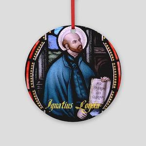 St Ignatius Loyola Round Ornament