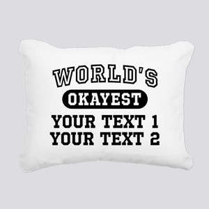 Personalize World's Okay Rectangular Canvas Pillow
