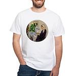 WMom-Llama baby White T-Shirt