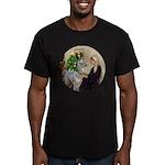 WMom-Llama baby Men's Fitted T-Shirt (dark)