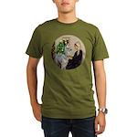 WMom-Llama baby Organic Men's T-Shirt (dark)
