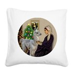 WMom-Llama baby Square Canvas Pillow