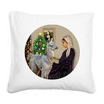 WMom-Llama baby Square Canvas Pillow