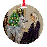 WMom-Llama baby Round Ornament