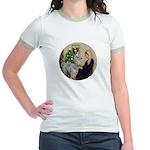 WMom-Llama baby Jr. Ringer T-Shirt