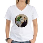 WMom-Llama baby Women's V-Neck T-Shirt