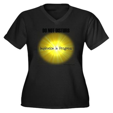 Do Not Distu Women's Plus Size Dark V-Neck T-Shirt