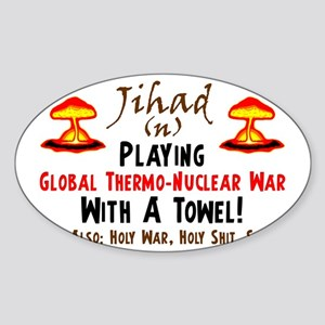 towel2 Sticker (Oval)