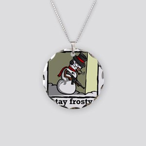stay frosty final Necklace Circle Charm