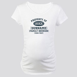 Personalize Family Reunion Maternity T-Shirt