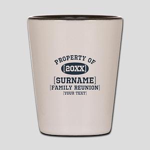 Personalize Family Reunion Shot Glass