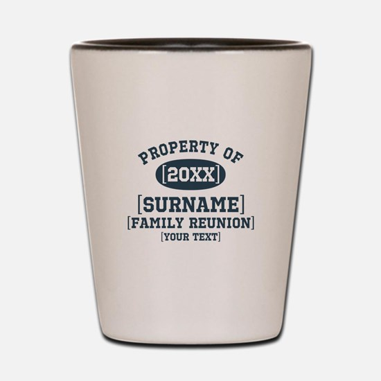 Personalize Family Reunion Shot Glass