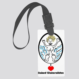 D008A_t-shirt Large Luggage Tag