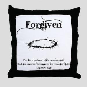 forgivencrown Throw Pillow