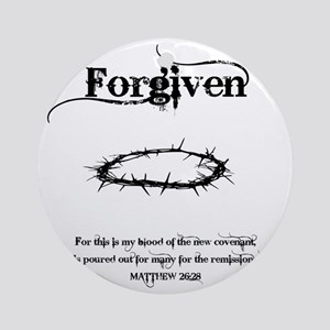 forgivencrown Round Ornament
