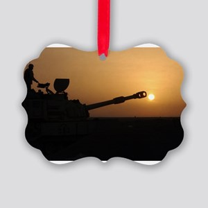 US Army Field Artillery Picture Ornament