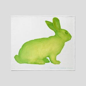 glo bunny Throw Blanket
