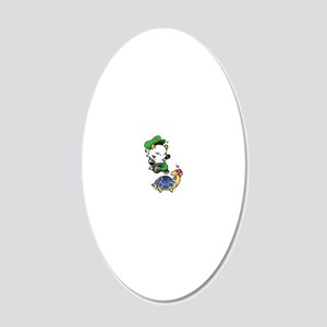 Goat-VideoGame 20x12 Oval Wall Decal