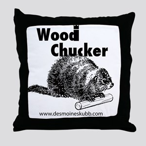 2-woodchucker-tee Throw Pillow