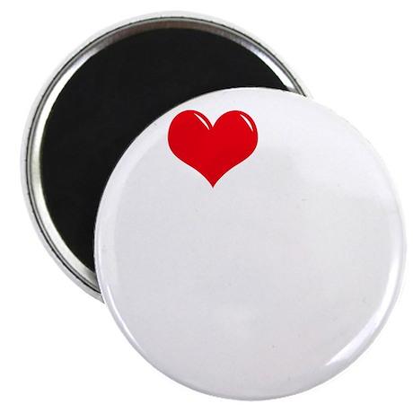 I-Love-My-Schnauzer-dark Magnet