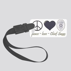 peace-love-swan-dk Small Luggage Tag