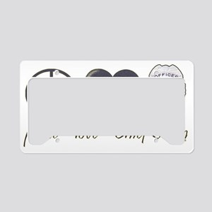 peace-love-swan-dk License Plate Holder