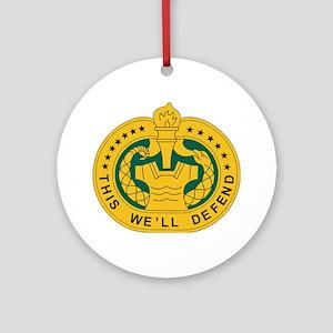 big Drill_Sergeant Round Ornament