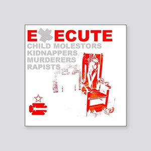 "3-execute Square Sticker 3"" x 3"""