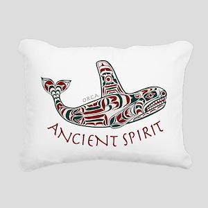 213ht AncntSpirit Orca  Rectangular Canvas Pillow